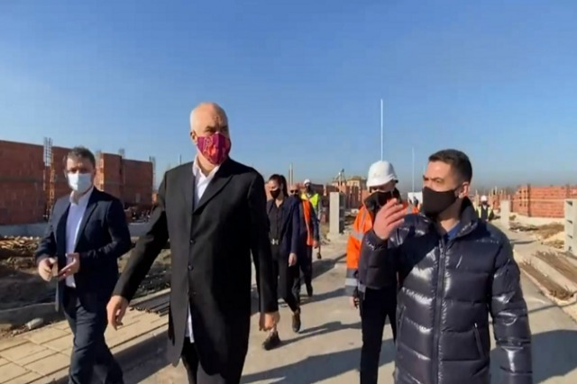 Pm Rama inspects the works in Fushe-Kruje