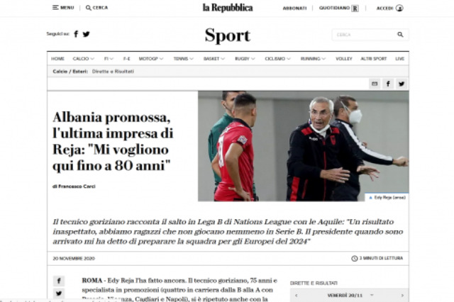 """Albania promossa, l'ultima impresa di Reja: """"Mi vogliono qui fino a 80 anni"""""""