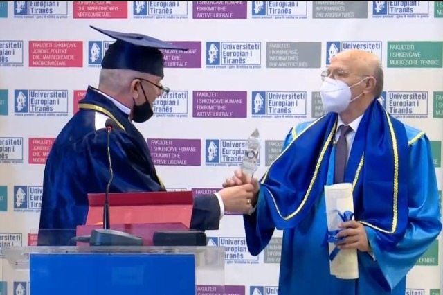 "Petrit Ruka is honored with the title ""Doctor Honoris Causa"""