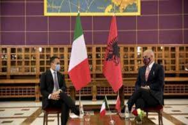 """Luigi Di Maio in the meeting with Rama :""""Italy has always been close to Albania on its path to EU integration and strongly supports the path of internal reforms."""""""