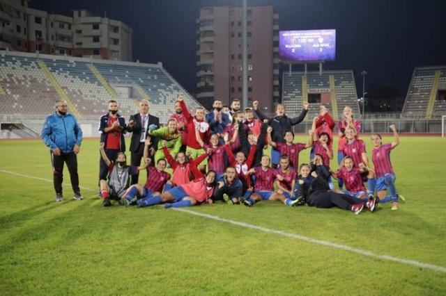 Die Damenmannschaft Vllaznia Shkodra hat gegen die türkische Landesmeisterin gewonnen