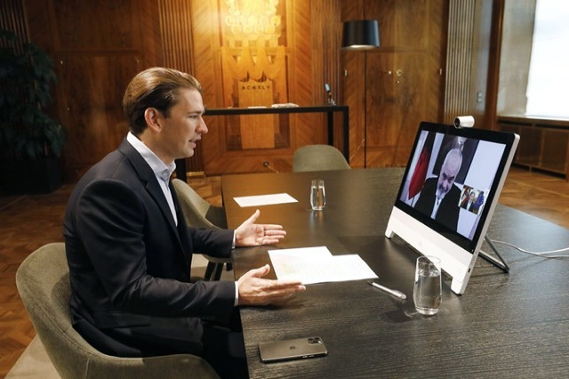 Pm Rama held a video conference with Austria's Chancellor, Sebastian Kurz