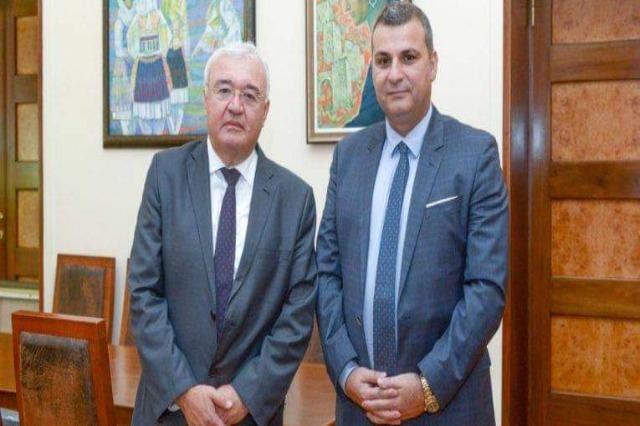 Il Governatore Albanese riceve l'Ambasciatore della Romania, collaborazione in vari campi del sistema bancario