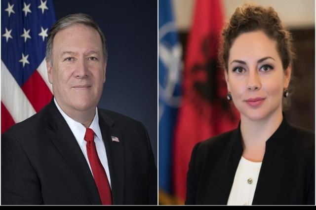 Pompeo: Xhacka, a strong partner as Minister of Defense; We hope to work with her to expand US-Albania ties