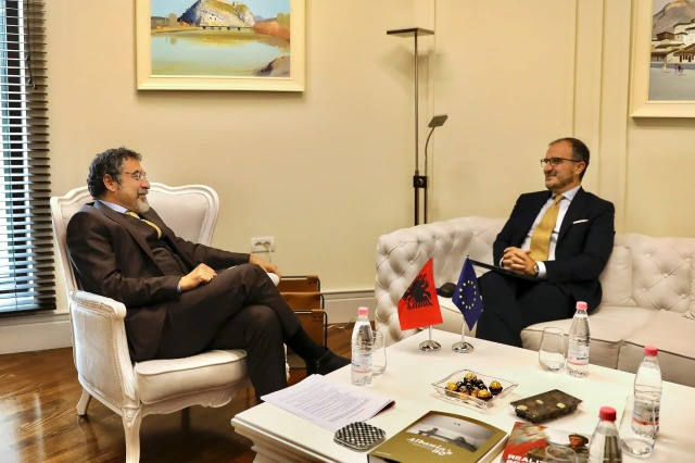 Minister Çuçi meets Ambassador Soreca, focusing on preparations for the April 25 elections: EU remains an irreplaceable partner