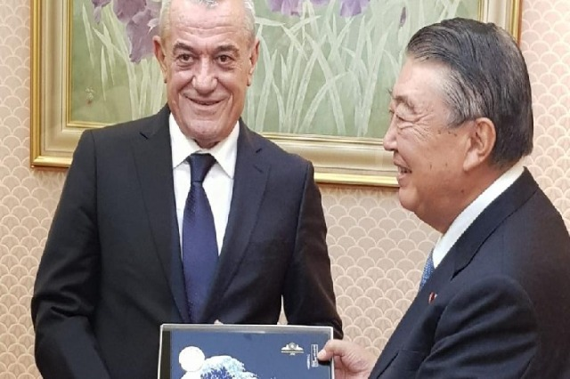 Ruçi congratulates the Speaker of the Parliament of Japan on the National Holiday