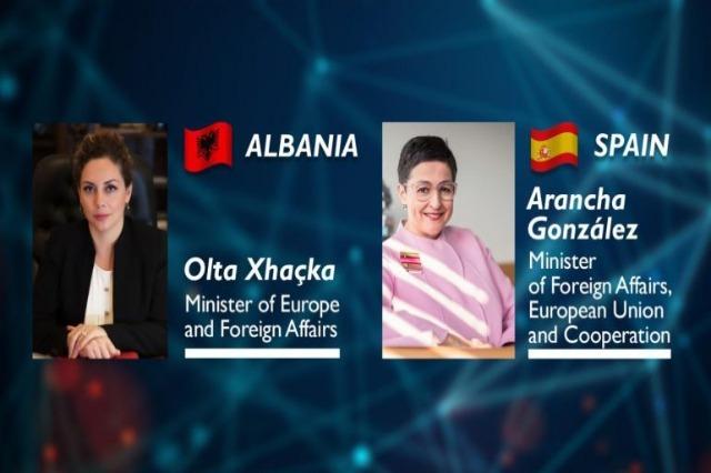 Xhaçka talks with Spanish counterpart Gonzales: Albania, progress in the Integration criteria!
