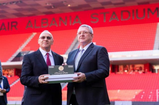 Arnavutluk Futbol Federasyonu Başkanı Duka, Kosova Futbol Federasyonu Başkanı Ademi'ye tebrik mektubu gönderdi