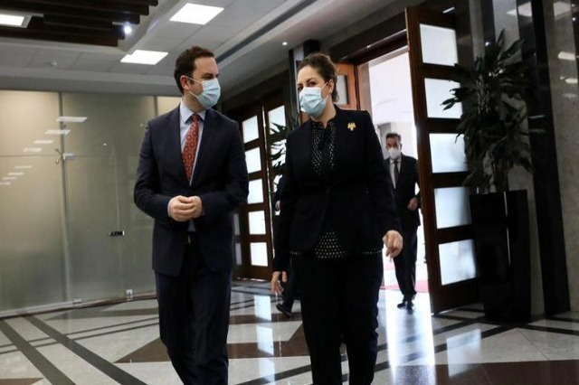 Xhaçka welcomes the Minister of Foreign Affairs of North Macedonia Bujar Osmani