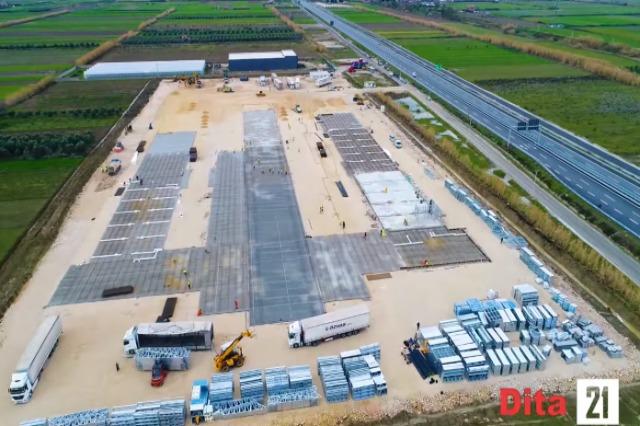 21 Arbeitstage auf der Baustelle des Fier Regional Memorial Krankenhauses