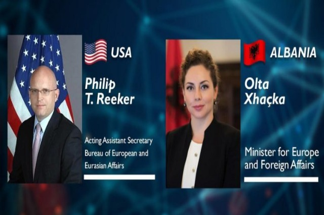 Xhaçka telephone conversation with Deputy Secretary Reeker: Relations with the US, the cornerstone of foreign policy