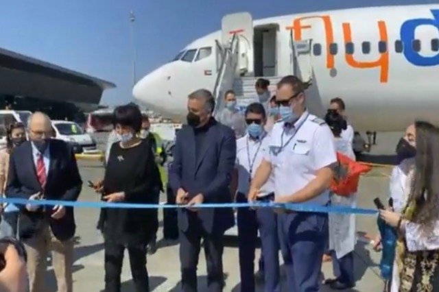"""Heute hat die Fluggesellschaft  """"Flydubai"""" die Flüge zwischen Tirana und Dibai  begonnen"""