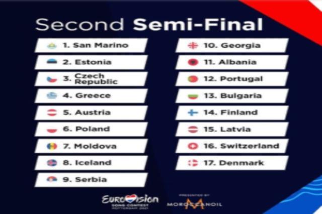 Die Rangliste von ' Eurosong Contest'  werden heute   publizierte
