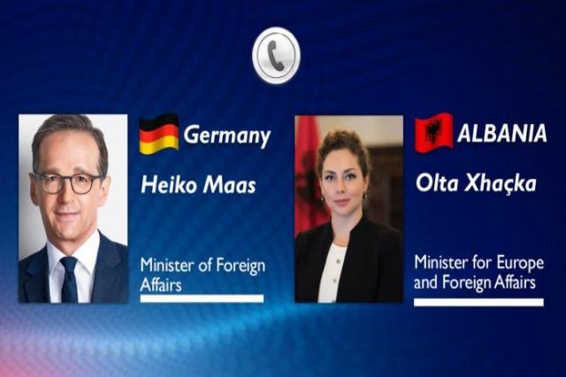 Xhaçka, Gespräch mit dem deutschen Minister  Heiko Maas: Justizreform ist unaufhaltsam