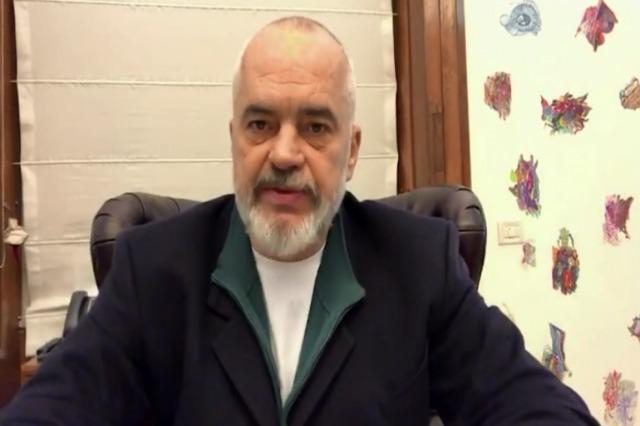 Videobotschaft  des albanischen Ministerpräsidenten an die Albaner, an dem Zensus  in Nordmazedonien teilzunehmen