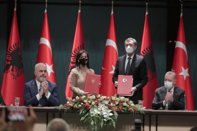 Albania has signed an agreement with Turkey on cooperation in the field of education