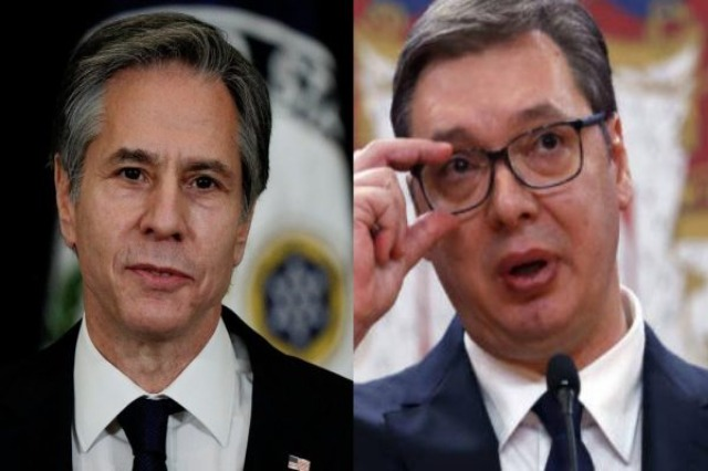 US Secretary of State Blinken writes to Vucic /  I request mutual recognition of Kosovo and Serbia