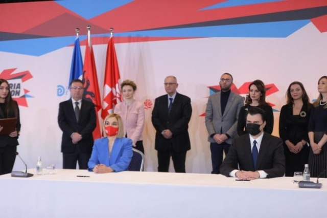 PD and LSI have signed the coalition agreement for the April 25 elections