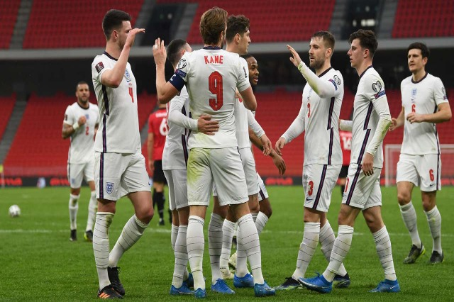 Albanian national football team defeated by England 2-0