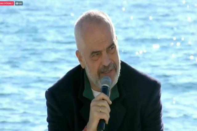 Der Regierungschef, Edi Rama spricht über die neue touristische Saison