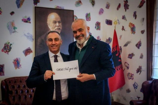 Der albanische Ministerpräsident, Edi Rama, empfing den   stellvertretenden Ministerpräsidenten von Nordmazedonien,  Artan Grubi
