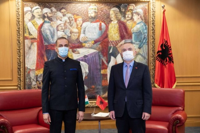 Der albanische Staatspräsident, Ilir Meta, empfing den neuen indischen Botschafter in Tirana