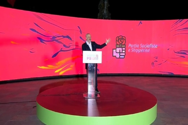 SP launches electoral campaign/Rama: The 3rd mandate makes the justice reform irreversible