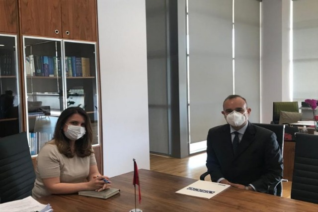 OSCE ambassador Del Monaco met with the HJC chairwoman, Naureda Llagami