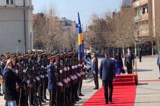 Vjosa Osmani officially took office today as President of Kosovo