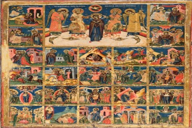 """""""Akathist Himna"""", retka ikona koja je ukrašavala ikonostas crkve u manastiru Ardenica"""