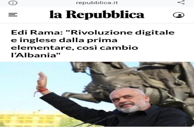 """Edi Rama: """"Révolution numérique et anglais depuis la première année, c'est comme ça que je change l'Albanie"""""""