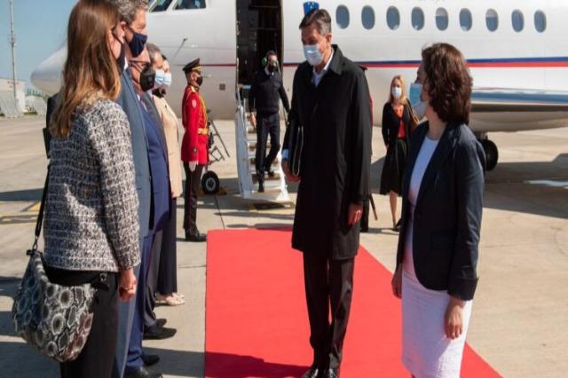Slovenya Cumhurbaşkanı Borut Pahor, Arnavutluk'a geldi