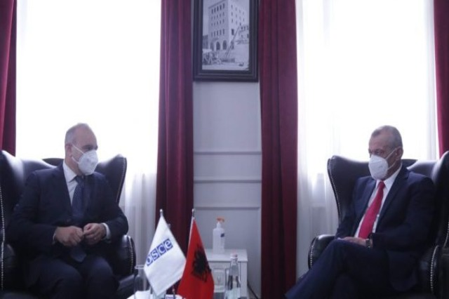 Ruçi meeting with OSCE Ambassador Monaco: We will support you to implement the recommendations of the final report on the elections