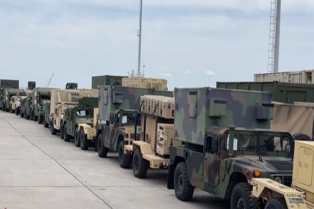 ''Defender Europe 21'' military exercise dislocates in Durres