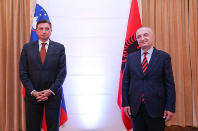 Cumhurbaşkanı Meta, Slovenya Cumhurbaşkanı Pahor ile görüştü