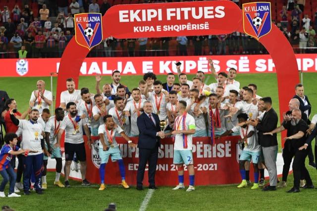 Vllaznia Shkodra hat den Pokal von Albanien gegen Skanderbeg Korça 1 zu 0 gewonnen