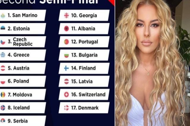 Eurovision Song Contest 2021, Angela Peristeri performs 11th in the second night of the semifinals