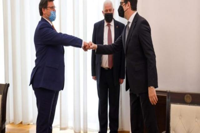 Chief Negotiator Zef Mazi is received by President Pendarovski, meetings in Skopje with Osmani and Xhaferi