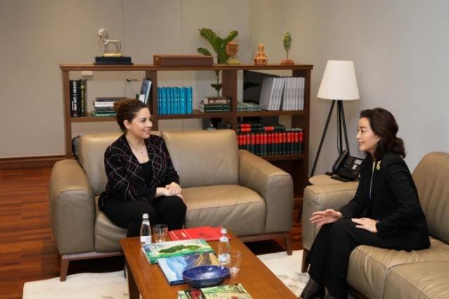 Die albanische Europa- und Außenministerin empfing die US-Botschafterin