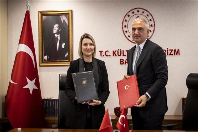 Kültür Bakanı Elva Margariti, T.C. Kültür ve Turizm Bakanı Mehmet Ersoy ile görüştü