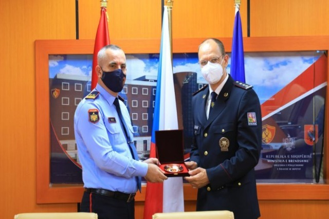 General Director of Police Veliu receives in a meeting the Czech police chief focusing on security cooperation