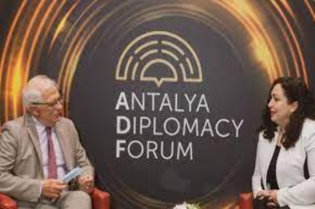 Osmani meets with Borrell, discusses dialogue and visa liberalization