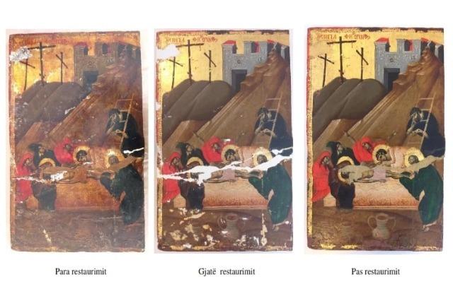 """""""Žalost prekomerne težine"""", restaurirana je jedna od retkih ikona slikara Davida Selenice"""