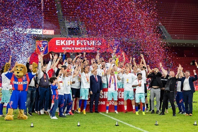 Vllaznia owns the National Cup, winning trophy n°7