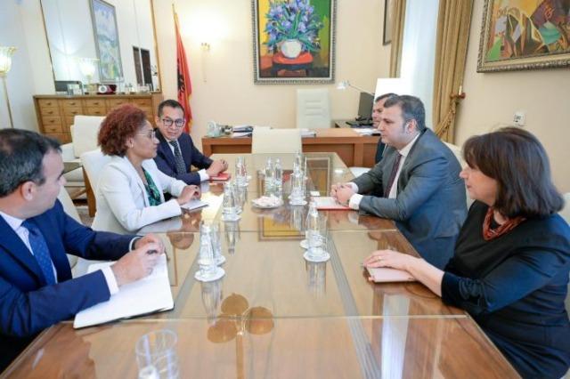 Sejko avec le nouveau représentant de la BM en Albanie, Emanuel Salinas : approfondissement de la coopération interinstitutionnelle