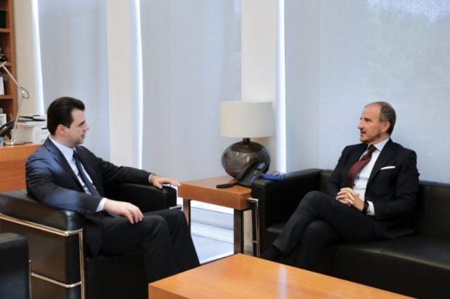 Soreca meets Chairman of DP Lulezim Basha
