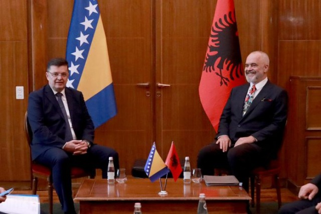Rama bilateral meeting with the Chairman of the Council of Ministers of Bosnia and Herzegovina