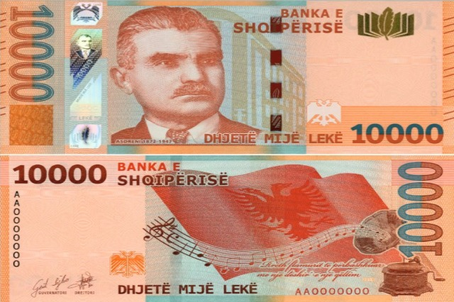 Bank of Albania presents for the first time the 10,000 lek banknote and the new denomination of 1000 lek