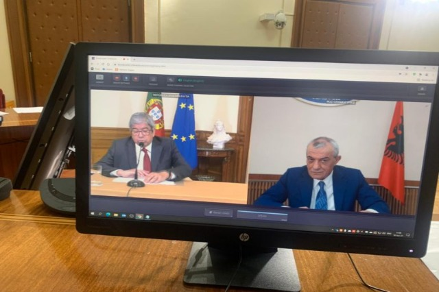 """The EU will never be complete without Albania """"! Speaker of the Portuguese Parliament, video conference with Ruçi: We support integration"""