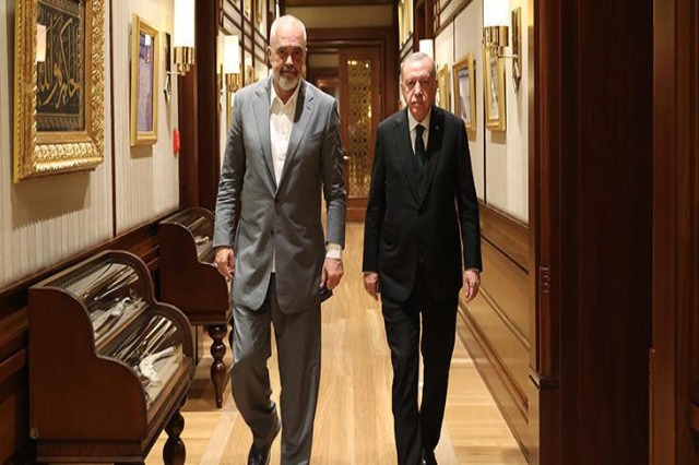 Prime Minister Rama is received by Erdogan in the Presidency